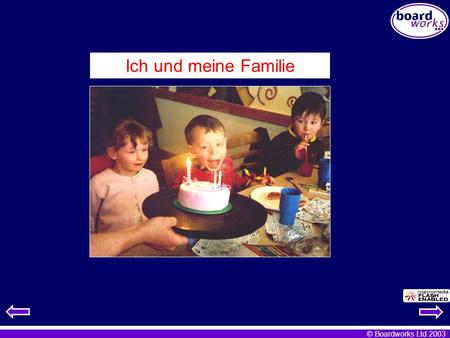 © Boardworks Ltd 2003 Ich und meine Familie. © Boardworks Ltd 2003 To access these notes go to Notes Page View (PowerPoint 97) or Normal View (PowerPoint.