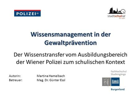 Wissensmanagement in der Gewaltprävention