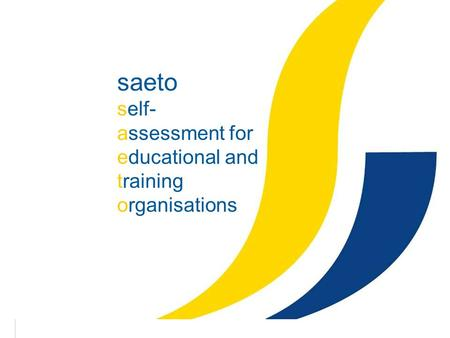 1 saeto self- assessment for educational and training organisations.