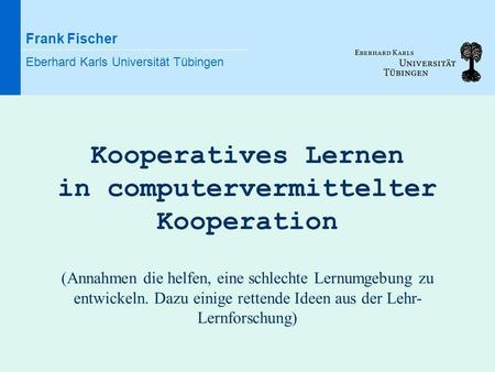 in computervermittelter Kooperation