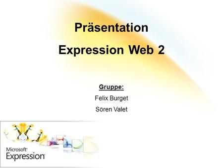 Präsentation Expression Web 2