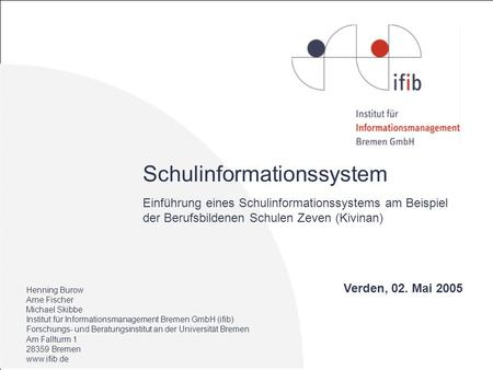 Schulinformationssystem