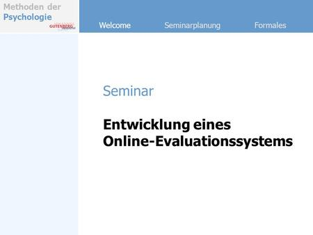 Online-Evaluationssystems