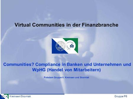 Virtual Communities in der Finanzbranche Communities