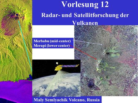 Vorlesung 12 Radar- und Satellitforschung der Vulkanen Maly Semlyachik Volcano, Russia Merbabu (mid-center) Merapi (lower center)
