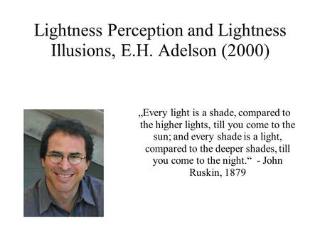 Lightness Perception and Lightness Illusions, E.H. Adelson (2000)
