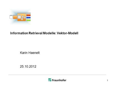 Information Retrieval Modelle: Vektor-Modell
