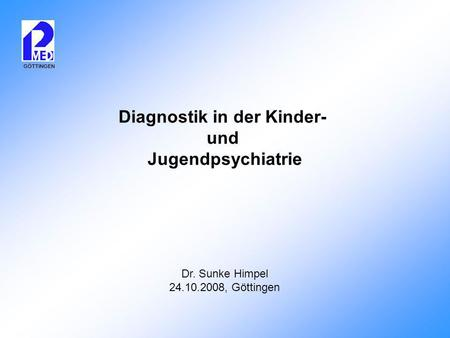 Diagnostik in der Kinder-