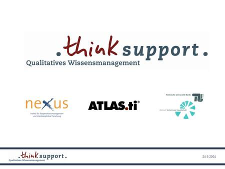 24.9.2004. Webbasiertes qualitatives Wissensmanagement Aktuelle Tendenzen Dr. Hans-Liudger Dienel TU Berlin, Zentrum Technik und Gesellschaft und nexus.
