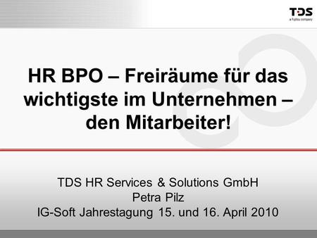 TDS HR Services & Solutions GmbH Petra Pilz