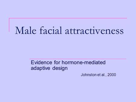 Male facial attractiveness