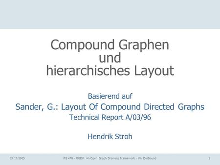 Compound Graphen und hierarchisches Layout