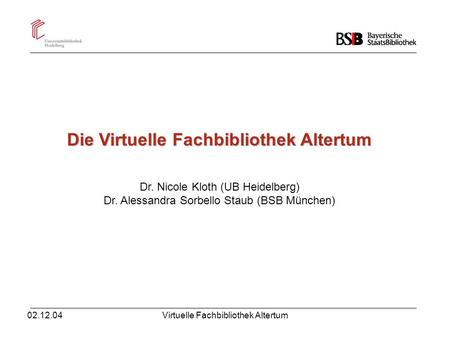 Die Virtuelle Fachbibliothek Altertum