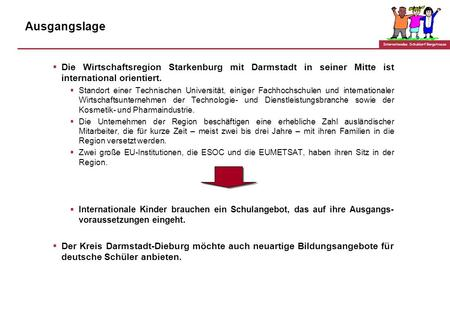 Internationales Schuldorf Bergstrasse GRUNDKONZEPT INTERNATIONALES SCHULDORF BERGSTRASSE IN SEEHEIM-JUGENHEIM - Kurzprofil des Internationalen Zweigs der.