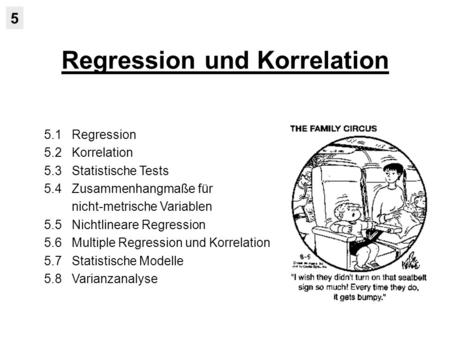 Regression und Korrelation