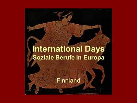International Days Soziale Berufe in Europa Finnland.
