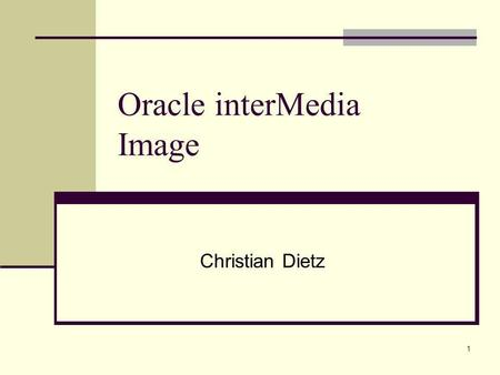 Oracle interMedia Image
