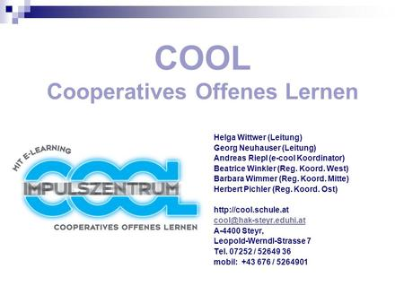 COOL Cooperatives Offenes Lernen