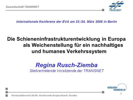 Internationale Konferenz der EVA am 23./24. März 2006 in Berlin