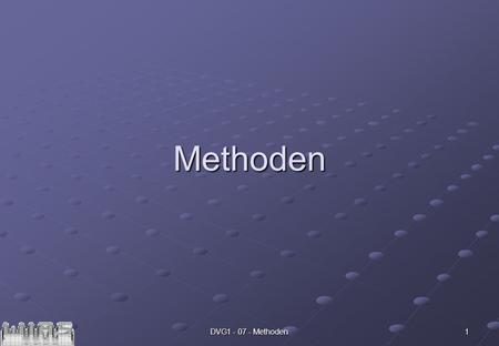 DVG1 - 07 - Methoden 1 Methoden. 2 int dezi = Integer.parseInt(args[0]); boolean vz = (dezi>=0); dezi = Math.abs(dezi); String Bin = ; do { } while.