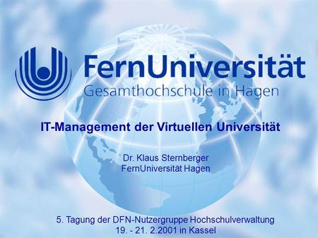 IT-Management der Virtuellen Universität