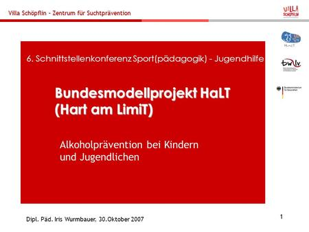 Bundesmodellprojekt HaLT (Hart am LimiT)
