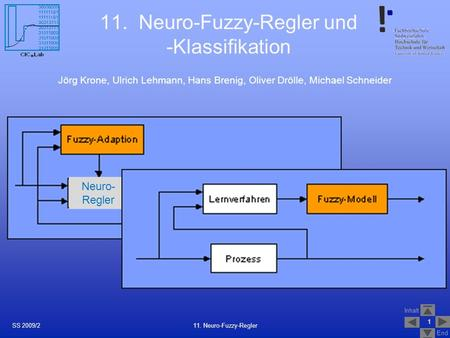 11. Neuro-Fuzzy-Regler und -Klassifikation