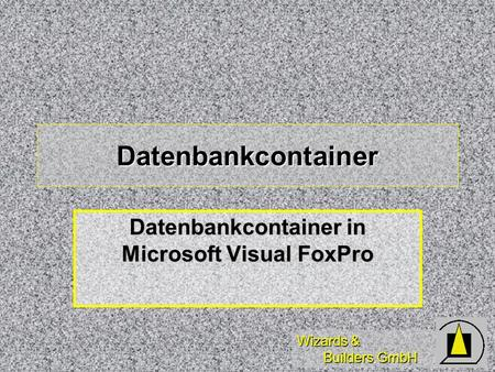 Wizards & Builders GmbH Datenbankcontainer Datenbankcontainer in Microsoft Visual FoxPro.