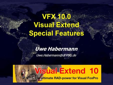 Uwe Habermann VFX 10.0 Visual Extend Special Features.