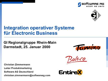 Integration operativer Systeme für Electronic Business