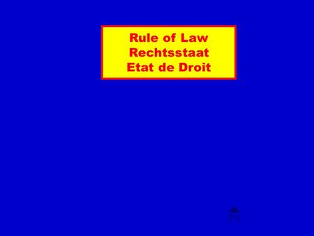 Rule of Law Rechtsstaat Etat de Droit Was heisst Rule of Law? Rule(s) of Law Rule of Laws Rule(s) of Law(s) Wer untersteht der Rule of Law? Staaten?
