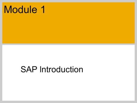 SAP lntroduction Module 1. SAP 2007 / SAP University Alliances Introductory Accounting Objectives ERP describedSAP definitionR/3 described, clients and.
