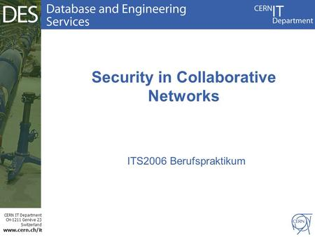 Security in Collaborative Networks
