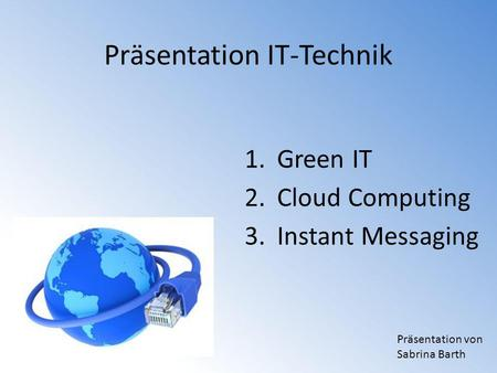 Präsentation IT-Technik