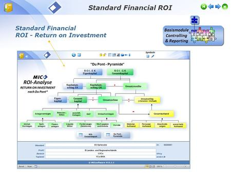 Standard Financial ROI - Return on Investment Standard Financial ROI Basismodule Controlling & Reporting.