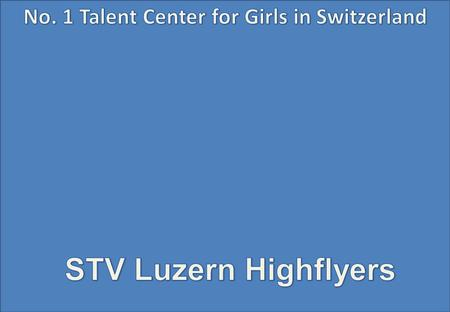 Schweizermeisterschafts Final DU15, 2011 STV Luzern Highflyers.