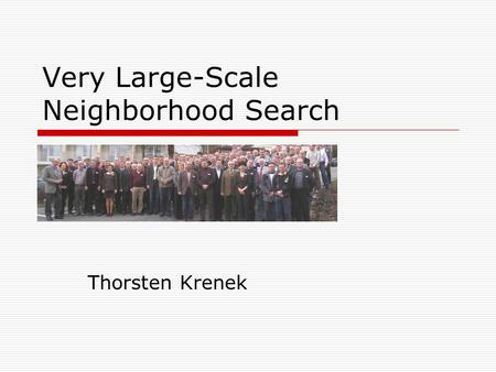 Very Large-Scale Neighborhood Search