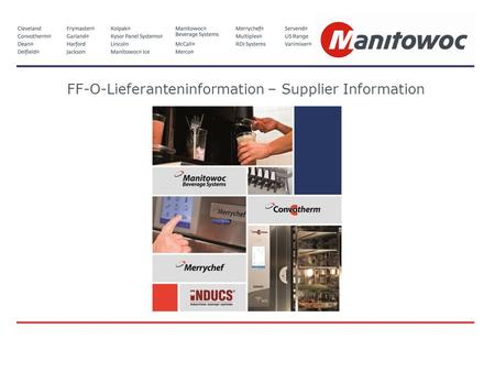 FF-O-Lieferanteninformation – Supplier Information.