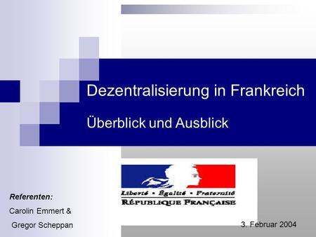 Dezentralisierung deutschland