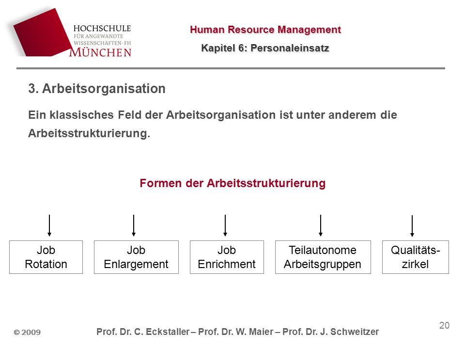 Human Resource Management Kapitel 6: Personaleinsatz © 2009 Prof.