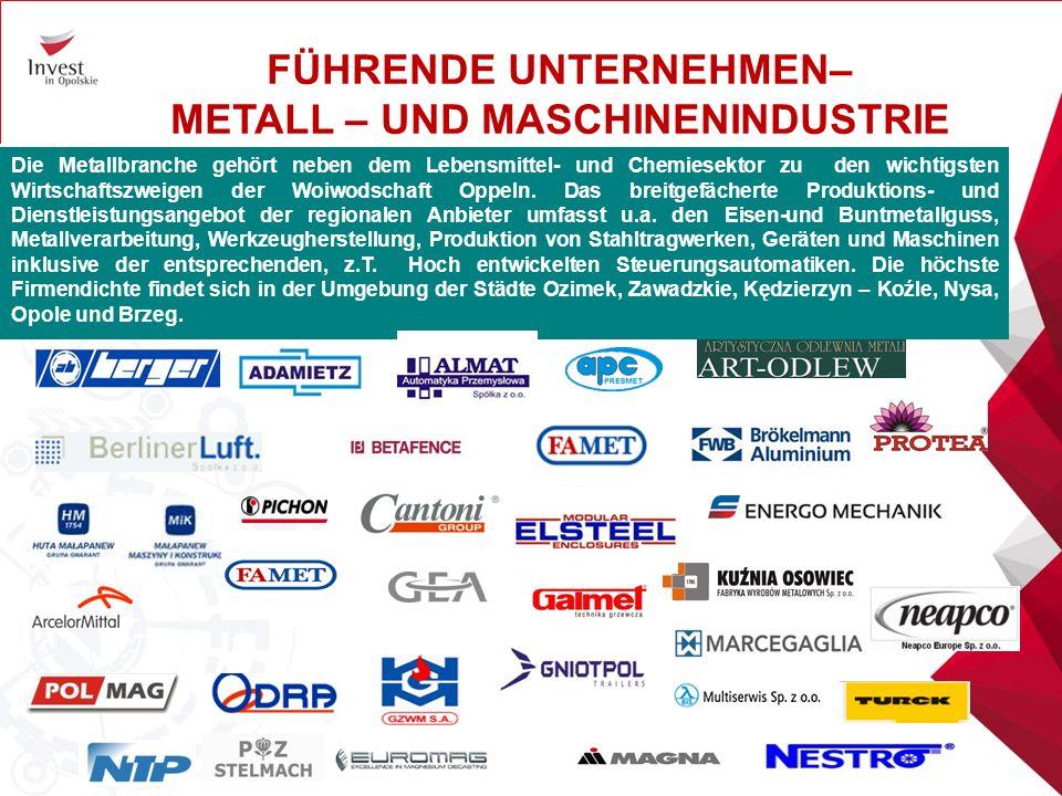 Die Woiwodschaft Oppeln entwickelte sich in den letzten Jahren sehr schnell wegen neuen Investitionen der Unternehmen aus der Autozulifererbranche.