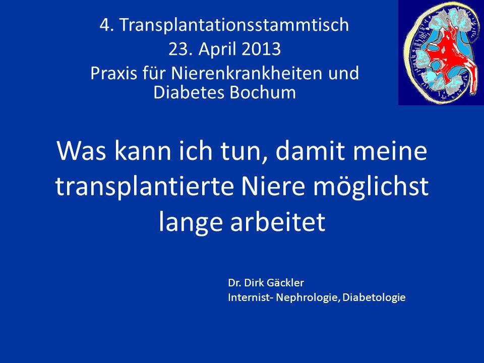 Was kann ich tun, damit meine transplantierte Niere möglichst lange arbeitet 4.