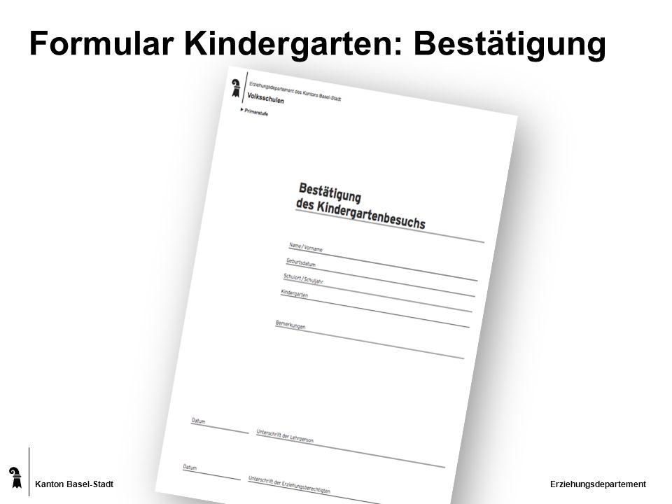Kanton Basel-Stadt Zeugnis – der leistungsorientierte Blick Erziehungsdepartement Schullaufbahnentscheid