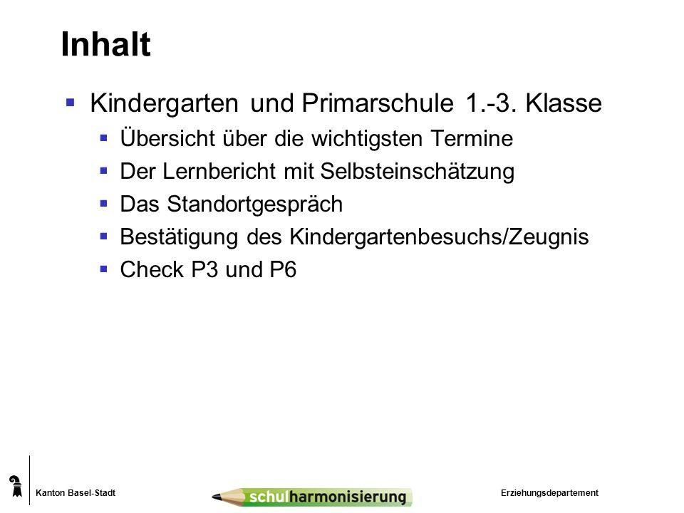 Kanton Basel-Stadt Kindergarten 1.Jahr2.