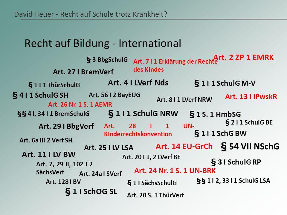 David Heuer - Recht auf Schule trotz Krankheit.