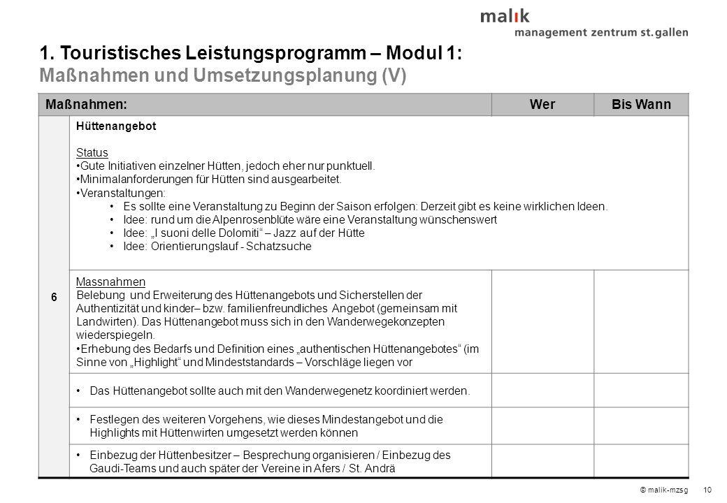 © malik-mzsg11 Maßnahmen:WerBis Wann 7 Tourismusfreundliche Öffnungszeiten Status Für Sehenswürdigkeiten bereits durchgehende Öffnungszeiten sichergestellt (durch Gemeinde Brixen).