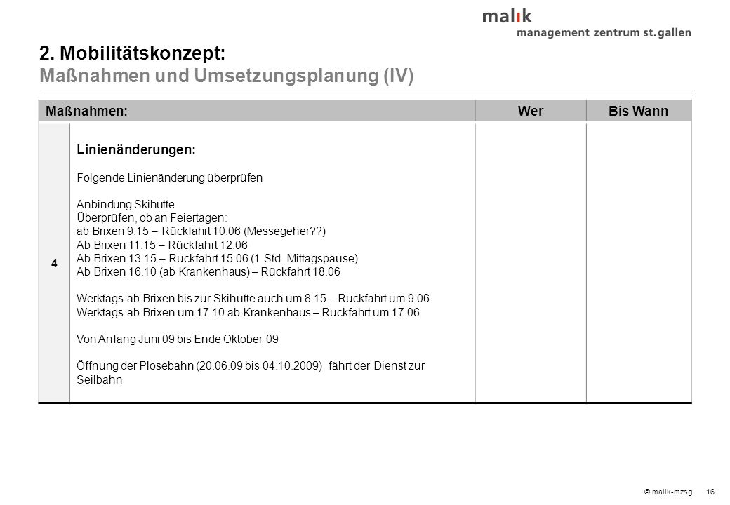 17© malik-mzsg Maßnahmen:WerBis Wann 5 Verkehrsberuhigung Palmschoss – Kreuztal.