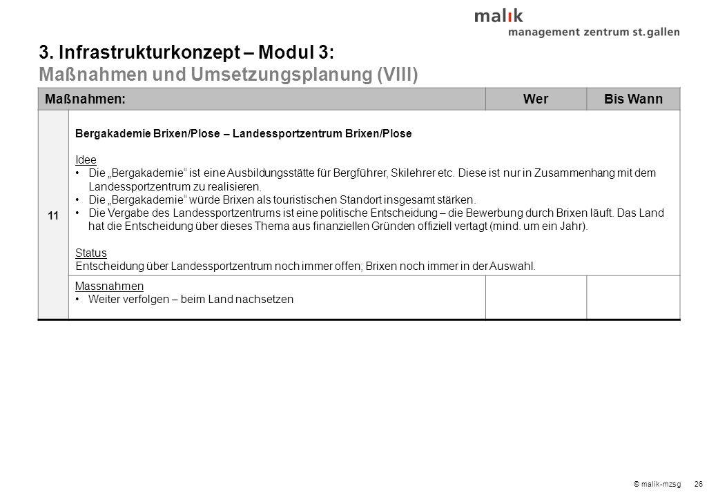 27© malik-mzsg Maßnahmen:WerBis Wann 1 Projekt Betten Status Arbeitsgruppe: Die Arbeitsgruppe hat wichtige Arbeitspakete erarbeitet.