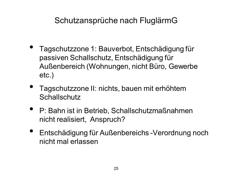 26 Ein Blick auf die Hochheimer Situation Tagschutzzone 2 erfasst Randbereich der Flörsheimer Straße 49 dB(A) nachts.