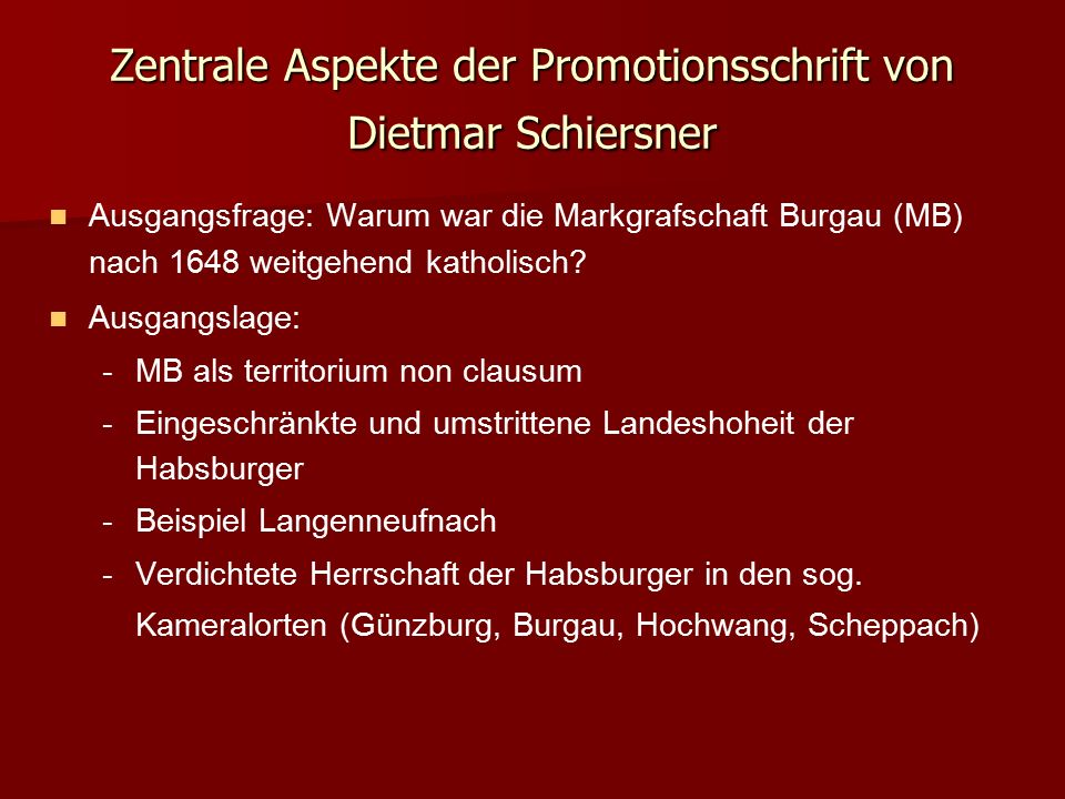 Fallbeispiel Lützelburg: Fallbeispiel Lützelburg: - -Umstrittene Kirchenhoheit: Wer hat das Jus reformandi.